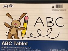uCreate Abc learn to letter pad practice tablet 40 pages