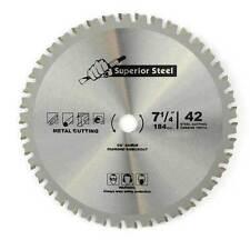 "7-1/4"" 42 Teeth 5/8"" Arbor Metal Ferrous Cutting Carbide Tipped Saw Blade -18542"