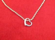 "14 KT GOLD EP 20""  2.5MM FRENCH ROPE CHAIN NECKLACE WITH FLOATING HEART"