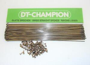~ 75 New DT Swiss 263mm Champion Stainless 2.0mm 14 Gauge Spokes & Nipples ~