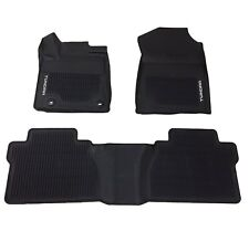 Fits Toyota Tundra Double Cab 2014-2018 Black All Weather Floor Mats Genuine OEM