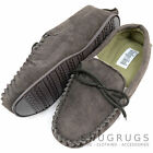 Mens Traditional Genuine Suede Leather Moccasin / Slippers with Rubber Sole