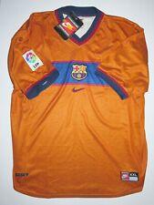 New 1998-1999 FC Barcelona Away Nike Kit Jersey Shirt FCB Orange