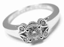 Authentic! Cartier Ballerine Platinum .24ct Diamond Engagement Ring Box Paper
