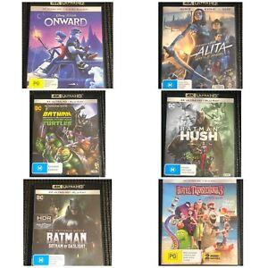 ASSORTED 4K MOVIES LIKE NEW  - FREE POSTAGE ! - PRICE REVISION 12/3