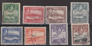 ANTIGUA KGVI Definitives Part Set SG98 - SG105  VFU