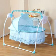 Electric Kid Baby Crib Cradle Infant Rocker Auto-Swing Sleeping Curtain Bed
