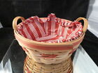 1999 Longaberger POPCORN basket  EXCELLENT CONDITION WITH CLOTH LINER/+PROTECTOR