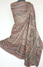 Large Hand-Cut Kani Jamavar Wool Shawl Luxuriously Detailed Paisley Jamawar