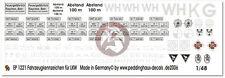 Peddinghaus 1/48 German Transport Truck License Plates & Tactical Markings 1221
