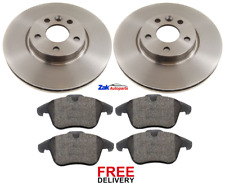 FOR FORD GALAXY MK3 & MK4 (2006-2015) FRONT 2 BRAKE DISCS AND PADS SET *NEW*