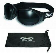 Eliminator Foam Padded Motorcycle Riding Goggles-SUPER DARK LENSES-Sun Glasses
