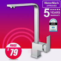 WELS 6 STAR Square Shower Kitchen Basin Swivel Mixer Tap Sink Laundry Faucet