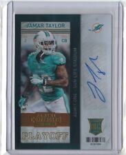JAMAR TAYLOR 2013 Contenders PLAYOFF TICKET RC Auto #141 BROWNS Dolphins /99