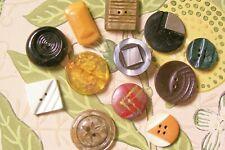 12 vintage Art Deco  buttons 17-24 mm. diameter