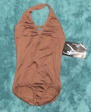 NWT Motionwear Brown Halter Leotard Leo 2547 Size MA Medium Adult