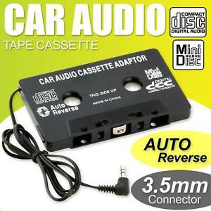 Car Cassette Casette Tape Adapter 3.5mm AUX Audio MP3 Radio Player CD For iPhone