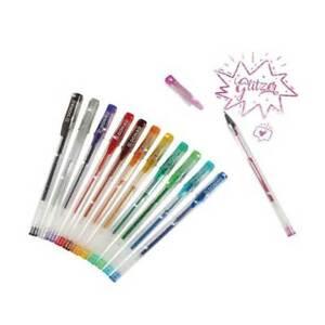 DONAU Gelschreiber Gelstifte 12 Farben mit Glitter Glitzer im Etui