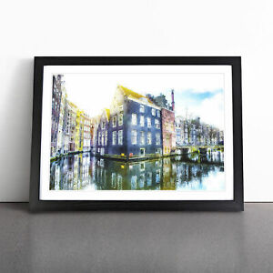 Reflections of Amsterdam Painting Wall Art Framed Print Home Decor Picture