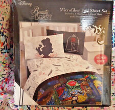 *NEW* Disney Beauty And The Beast Rose And Feather FULL Sheet Set