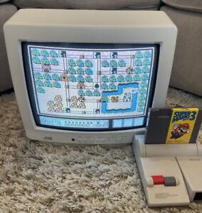 """📺👾 Vintage White JVC Color TV 13"""" C-13811 RETRO Video Game CRT *CLEAN* 📺👾"""
