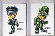 THE GREEN HORNET TV SERIES (2 CARDS) ART PRINTS KATO BRUCE LEE VAN WILLIAMS RAK