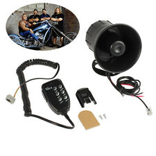 12V Car Horns Motorcycle Police 6 Sound Siren Megaphone Speaker With MIC 50W