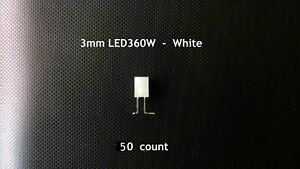 12 volt 3mm White LED's with resistor GM dash bulbs upgrade 2003 04 05 06 50 ct
