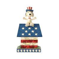 Patriotic Snoopy Doghouse Peanuts Figurine Jim Shore USA Americana 4th of July