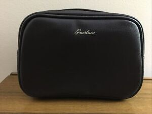 Guerlain large Navy Blue faux leather Cosmetics Bag Case NWOB