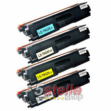 MULTIPACK 4 TONER PER BROTHER DCP 9055CDN 9270CDN MFC 9460CDN NERO + COLORI REMA