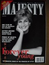Majesty Magazine August 1998 Princess Diana Black & White Cover