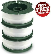 Black Decker String Trimmer Replacement Spool Line Weed Eater Grass Edger 3 Pack