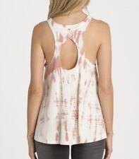 NWT WOMENS BILLABONG ALL TIED UP ROSE DUST RACERBACK KEYHOLE TANK TOP M MEDIUM