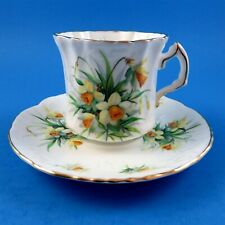 Pretty Spring Daffodils Hammersley Tea Cup and Saucer Set