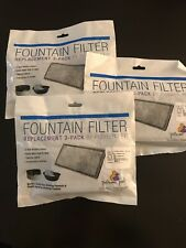 New Pioneer Pet Replacement Filters for Plastic Fountains Lot Of 3 Item #3003