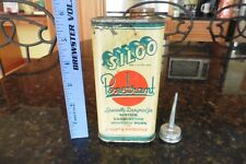 Vintage Siloo Tin NY Penetrant Motor Car Carburetor ignition Litho can oil FULL