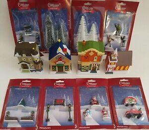 Christmas Winter Cobblestone Village Miniature Accessories S20, Select: Type