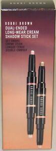 Bobbi Brown Dual-Ended Cream Eye Shadow Stick Set GOLDEN BRONZE PINK SHELL PEACH