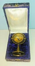 Antique Nautical Maritime Brass Compass With Stand Décor With Velvet Case