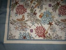 "Tapestry Effect sea life  Cover throw or table cover 53"" X 53"" thick cotton NEW"
