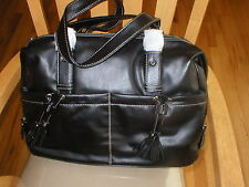 Baby Diaper Bag black  faux leather big bag NEW