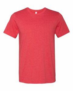 BELLA CANVAS Unisex CVC Shirt - 3001 - Heather Red, Bella Canvas Short Sleeve
