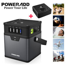 Poweradd 50000mAh/185Wh Portable Generator(DC 5V/12V/19V) with AC Power Inverter