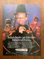 1984 Crest Toothpaste Vintage Print Ad/Poster Halloween 80s Pop Art Decor