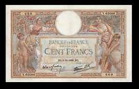 France 100 francs 3.11.1938  Pick 86b   XF *''Luc Olivier Merson ''**