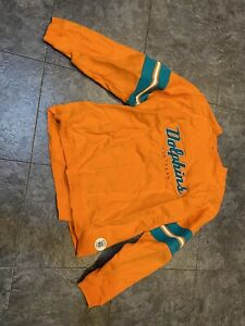 Vintage Miami Dolphins Reebok Gridiron Classic Pullover Mens 2XL Orange NWT FS