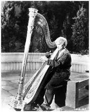 HARPO MARX great 8x10 still playing harp -- b649