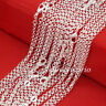 "Wholesale Lots 5Pcs 925 Sterling Silver 2mm Circle Rolo Chain Necklace 18""-30"""