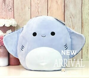 """KellyToy Squishmallow 16"""" Inch Large King the Blue Stingray Sea Life Squad NEW"""